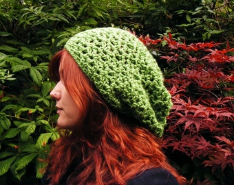 Extra Slouchy Crochet Beanie Womens Accessories Available in 12 colours