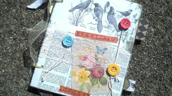 For The Birds - Vintagy Scrapbook Notebook Album for Photos, Notes, Lists, Quotes, Scripture