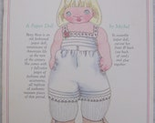 Charming Collectible Paper Dolls BETSY ROSE Michel and Co. Uncut Book