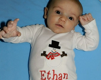 Snowman Shirt / Personalized / Christmas / Frosty / Winter Party