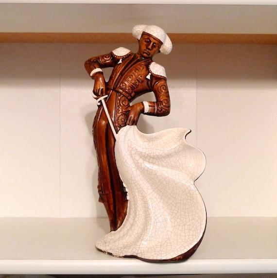 Matador Bullfighter Vintage Ceramic Figurine Bull Fight
