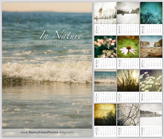 2013 Calendar Nature desk calendar, stocking stuffer, gifts under 25, nature photo set, instant collection