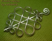 Artistic CELTIC Brooch, Hair Pin or Shawl Pin made with Aluminum Wire - Very Light to Wear