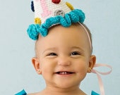 Instant Download - PDF Party Hat Crochet Pattern - Birthday Hat - photography prop - baby hat - cone hat