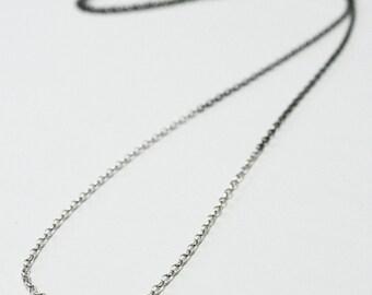 Simple Dip Dye Sterling Silver Chain