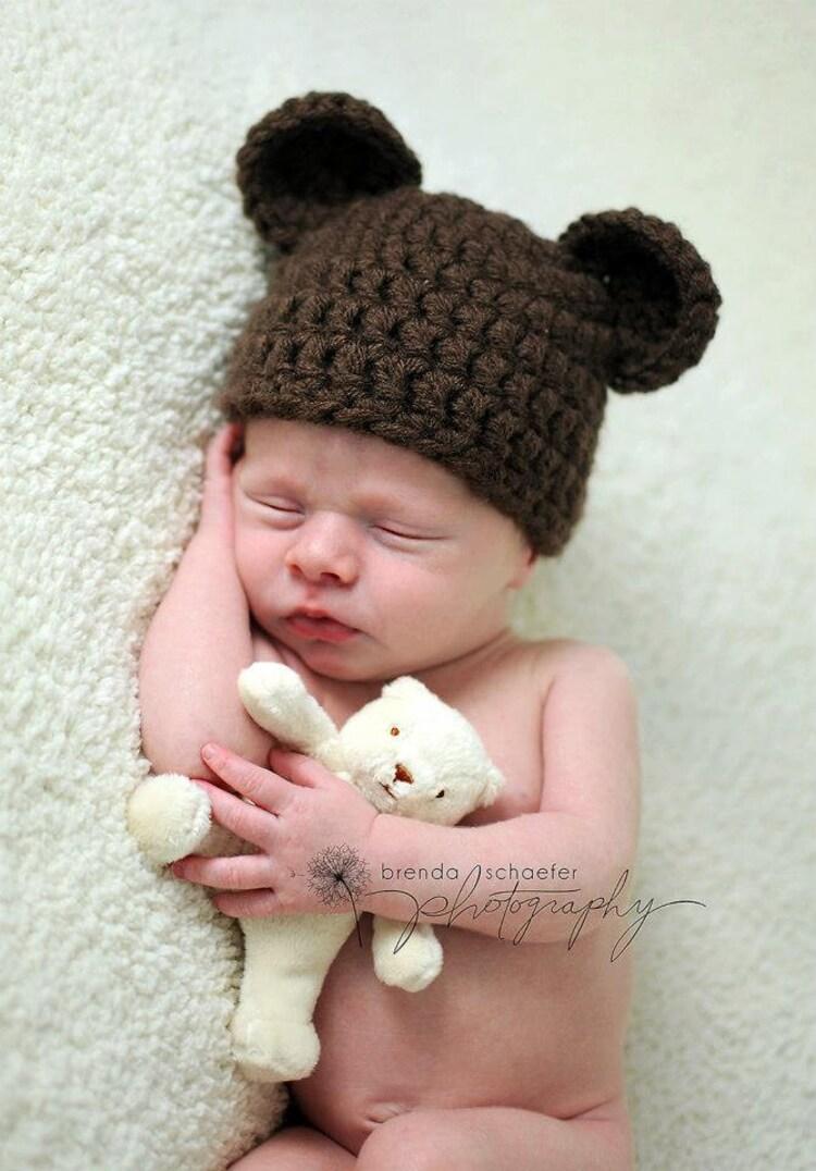 Newborn Baby Boy Hat Girl Bear Hat By Maddiesdivinedesigns