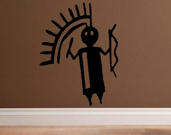 vinyl wall decal Native american symbol primitive painting