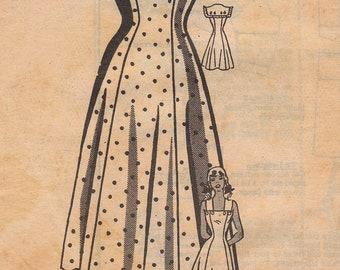 1940s Vintage Mail Order Summer Dress Pattern Size 14 Unused