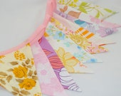 Pretty Vintage Party Bunting - CREAM TEA - The perfect decoration for Showers, Weddings and Summer Parties