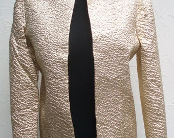 SALE Vintage Gold Textured Jacket