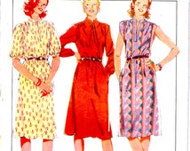 On Sale - 1980s Style No 3489 Sewing Pattern for Womens Pullover Dress Pattern Size 12  Bust 34 inches, Uncut, Factory Folded