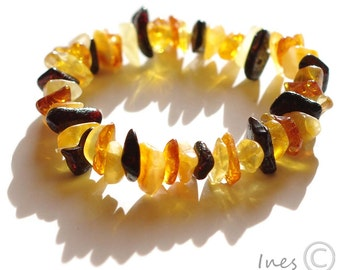 Baltic Amber Multicolor Baby Teething Bracelet or Anklet