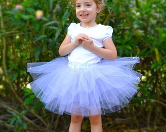 Completely Sewn Tutu, Wisteria Purple, 10-inch Long, Size 5-8 Girls, Ready to Ship,