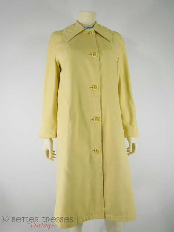 70s Yellow All Weather Rain Coat by Misty Harbor - med, lg
