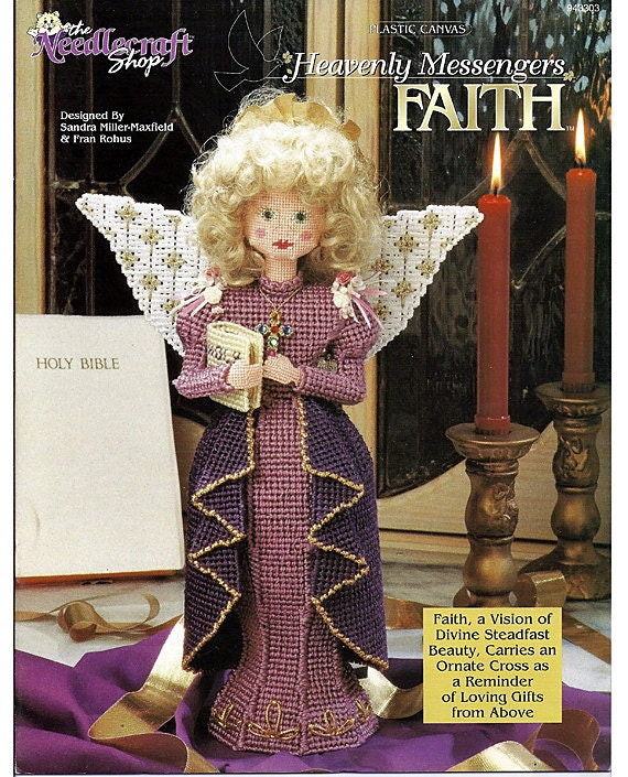 Faith Heavenly Messengers Angel Series Plastic Canvas Pattern Book  The Needlecraft Shop 943303