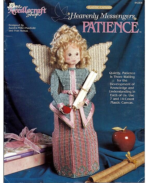 Patience Heavenly Messengers Angel Series Plastic Canvas Pattern Book  The Needlecraft Shop 943308