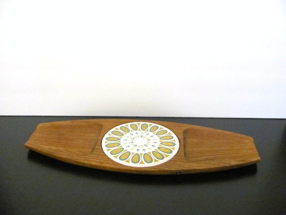 Vintage Atomic Cheese Tray