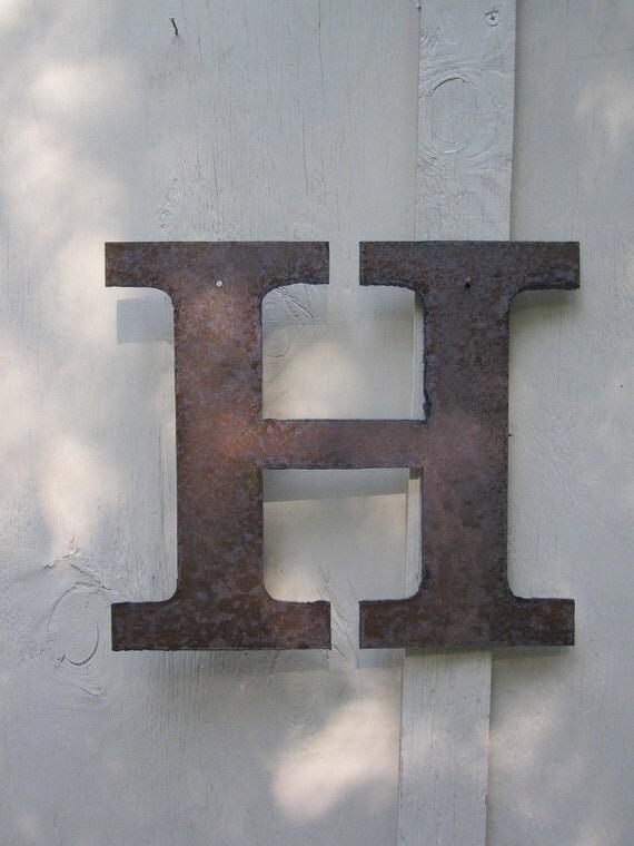 """Metal letter """"H"""""""