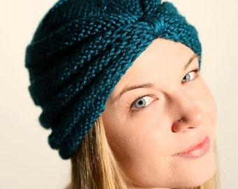 Adult  woman knit turban