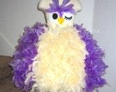 Feather Dress -  Feather Tutu Dress - Owl Tutu Dress - Owl Costume