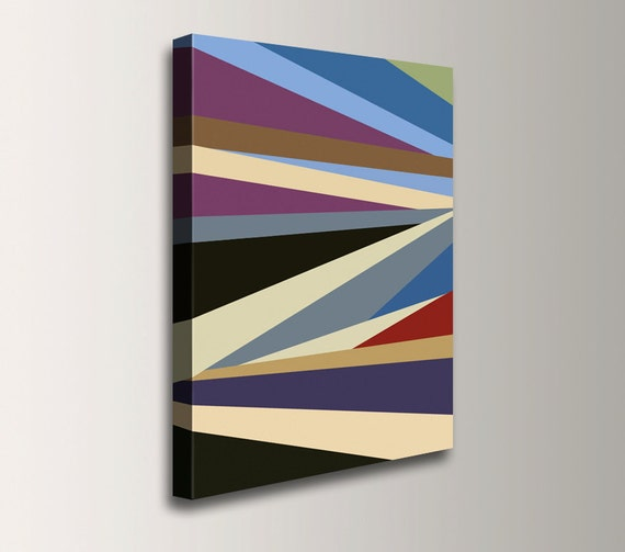 "Colorful Art - Canvas Print - Geometric Art Print - Abstract Wall Decor - ""Around The Corner"""
