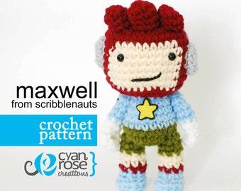 Maxwell Crochet Pattern - Instant Download - Maxwell, from Scribblenauts - amigurumi doll CROCHET PATTERN ONLY