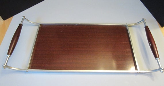 Vintage Genuine Formica Serving Tray with Handles