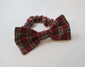 Christmas Holiday Plaid Bow Tie Collar For Your Dog - Great Gift or Stocking Stuffer