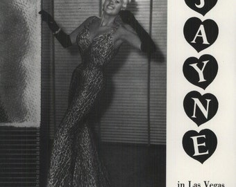 JAYNE MANSFIELD Jayne In Las Vegas on Factory Sealed LP Vinyl Record Album Pinup Cheesecake Album Cover Sexy Jane Mansfield 1950s Actress