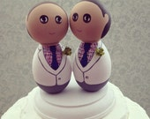Reserved Listing - Custom Same Sex Groom Wedding Cake Topper - Every Topper is made custom for you