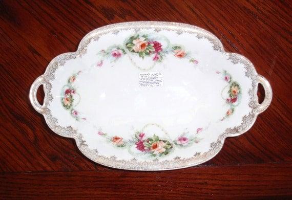 1891 Antique Rosenthal German Porcelain Crysantheme Bavaria