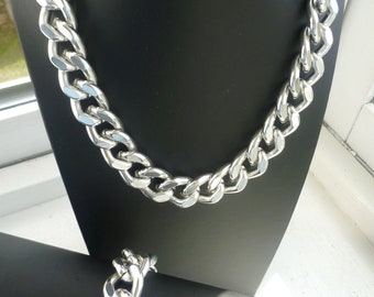 Ultra bold: Chunky Silver Necklace, Chunky jewelry