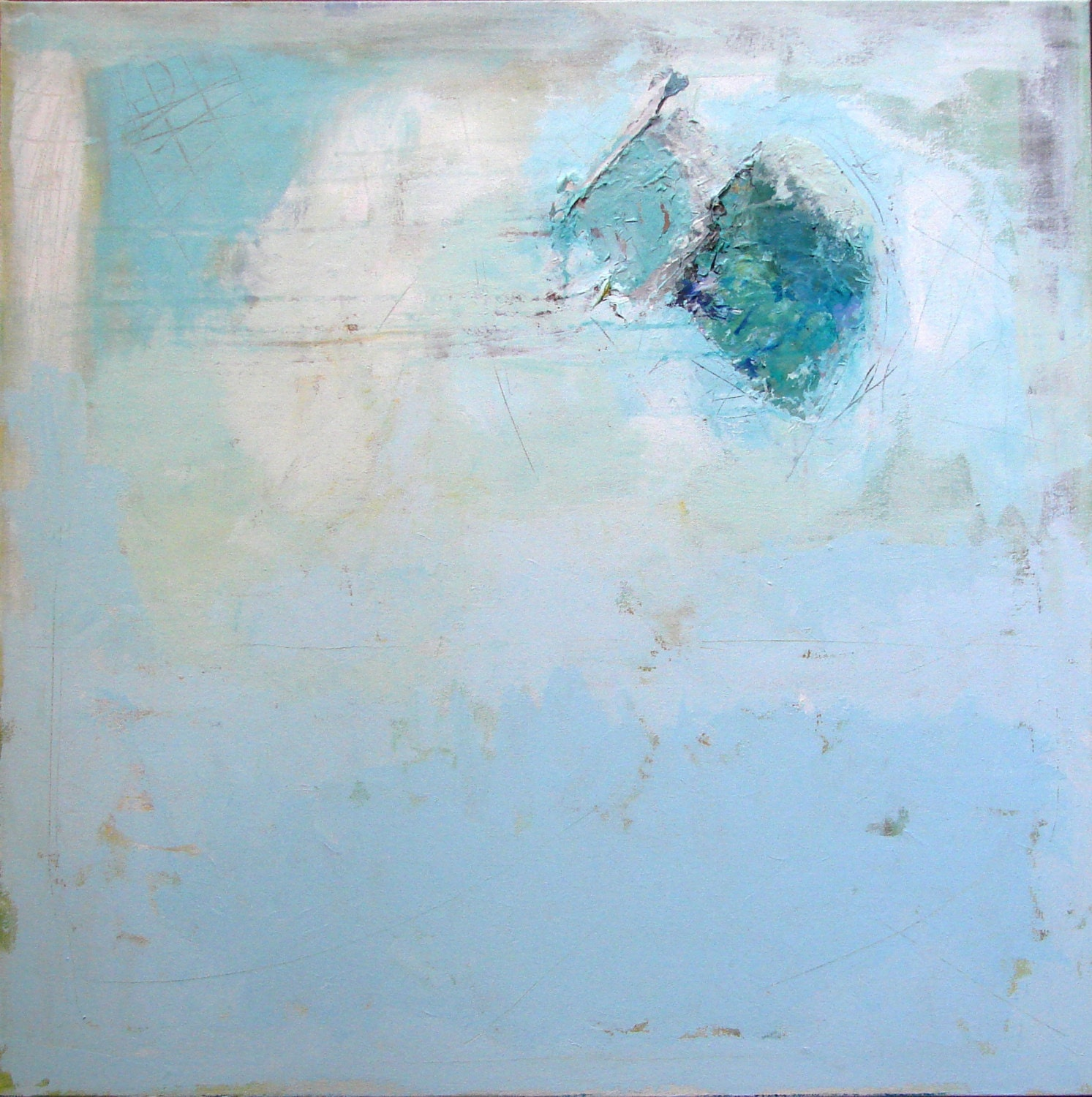 Blue Abstract Painting large abstract art blue painting