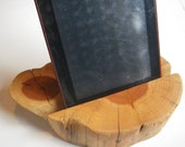 Ipad, Nook, Nexus, Kindle  Docking Station Stand  Made From  Rustic Juniper Wood Slice