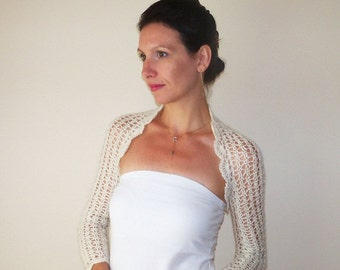 Bridal Bolero Jacket / Wedding Shrug /Lace Bolero Shrug / Ivory Wedding Bolero / Bridal Shrug