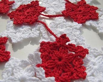 Crochet PATTERN-Snowflake Garland-Christmas Tree Decorations-DIY Crafts-Christmas Gift-Instant Download PDF Pattern No.64 by Lyubava Crochet