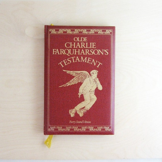 Olde Charlie Farquharson's Testament - Vintage Book of Humor - Illustrated Bible - Red Bible - Old Testament Bible Satire - Canadian Comedy