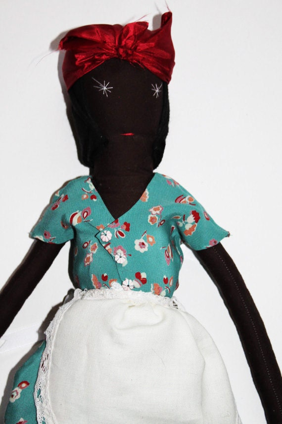SALE 1940s Vivien Ragdoll: Handmade from Vintage and Recycled Materials, Cloth, Children