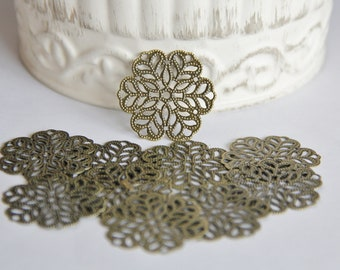 8 Filigree Metal Embellishments for Scrapbooking,Card Making,Home Decor,Mini Albums,Journals,Craft Projects,Altered Art