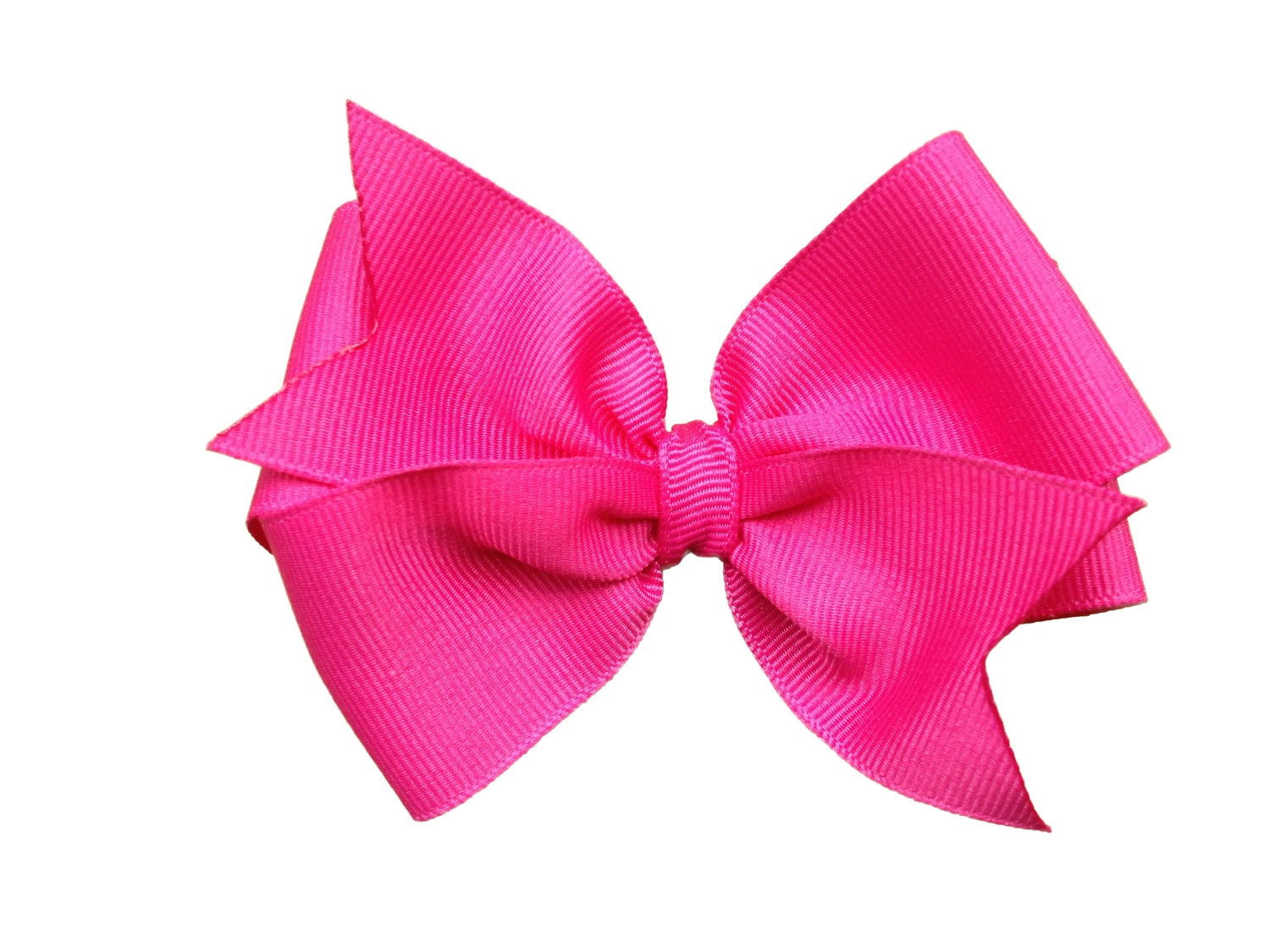 4 Inch Hot Pink Hair Bow Hot Pink Bow 4 Inch Bows Pinwheel