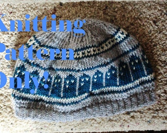 Pattern- T.A.R.D.I.S. Slouch Beanie  Doctor Who hat design