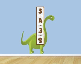 Kids Wall Decal,Dinosaur Wall Sticker,Growth Chart Wall Decal