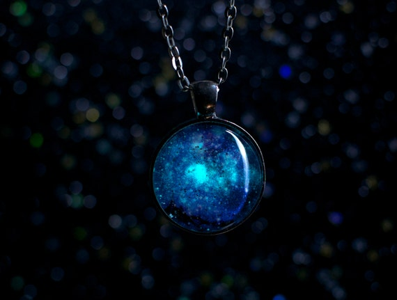 Glow in the Dark Galaxy Necklace / Tarantula by shophexafauna