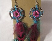 SALE Dream Catcher Earrings- Cotton Candy