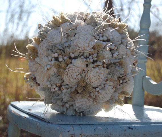 items similar to dried wedding flowers bouquets