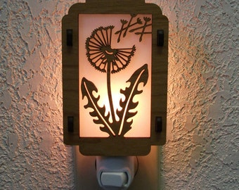 Dandelion Night Light with Leaves