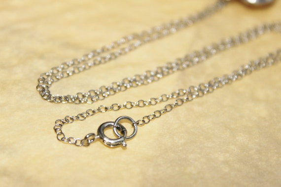 Finished 18 inch Antiqued Silver  Fine Delicate Cable Chain with Round Clasp 1.6mm