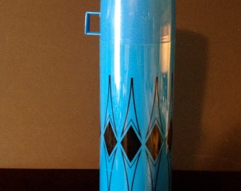 Blue Mod Thermos