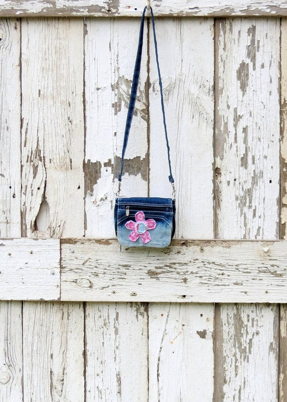 Poppylove Pretty Petite Purse upcycled small shoulder bag eco friendly pocket book gift present birthday Christmas