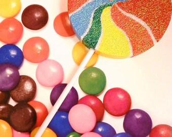 Large Swirl Lollipop Candy Decor Photo Prop Decoration Lollipop Wand